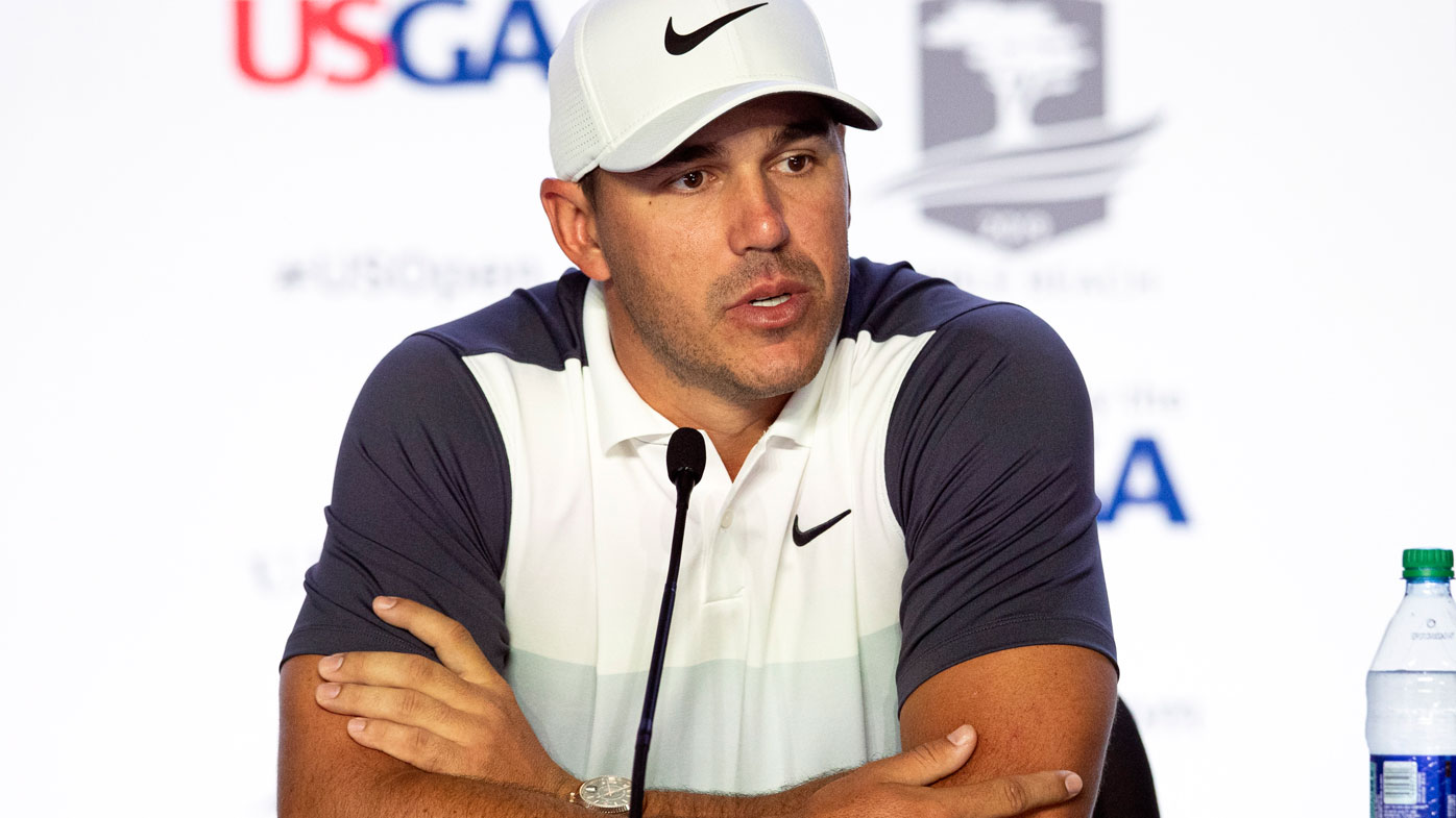 Koepka speaks to media before the US Open
