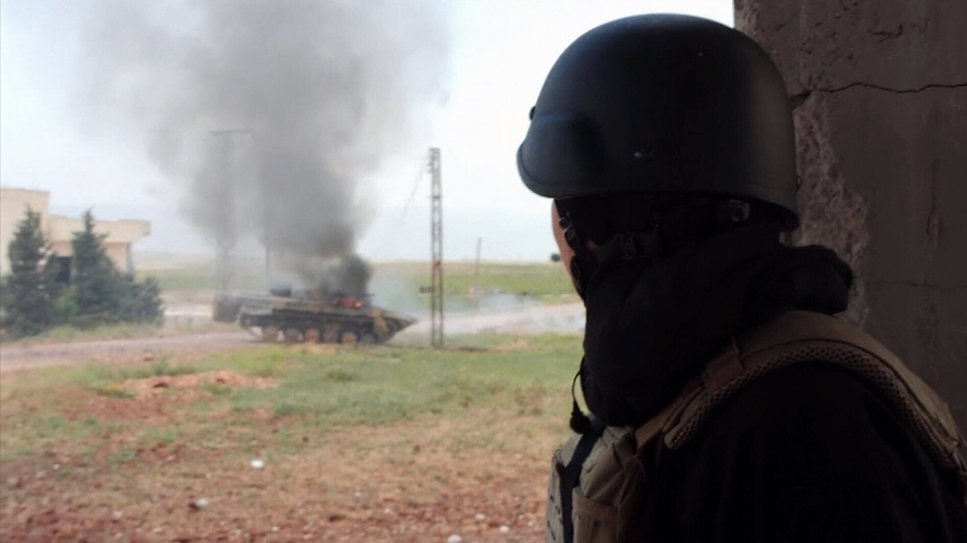 Sky News crew targeted in shelling attack in Syria