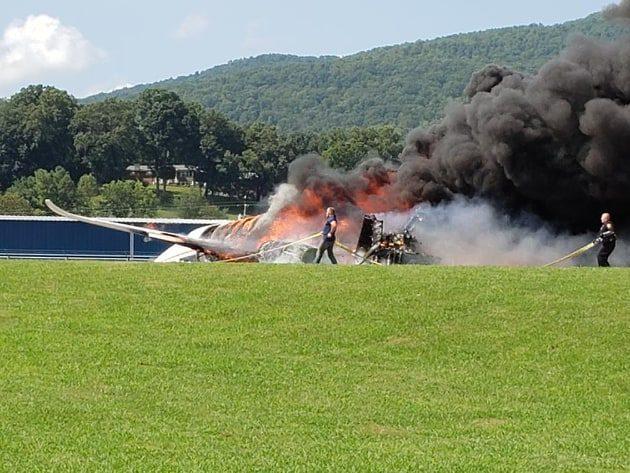 Famed NASCAR racer survives fiery plane crash
