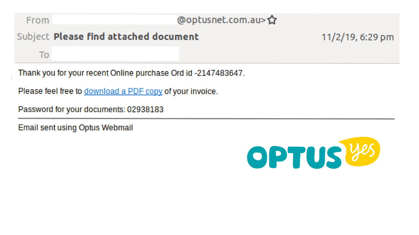 Optus scam: Warning over emails hitting inboxes across the country