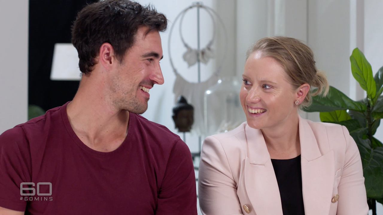 Alyssa Healey and Mitchell Starc