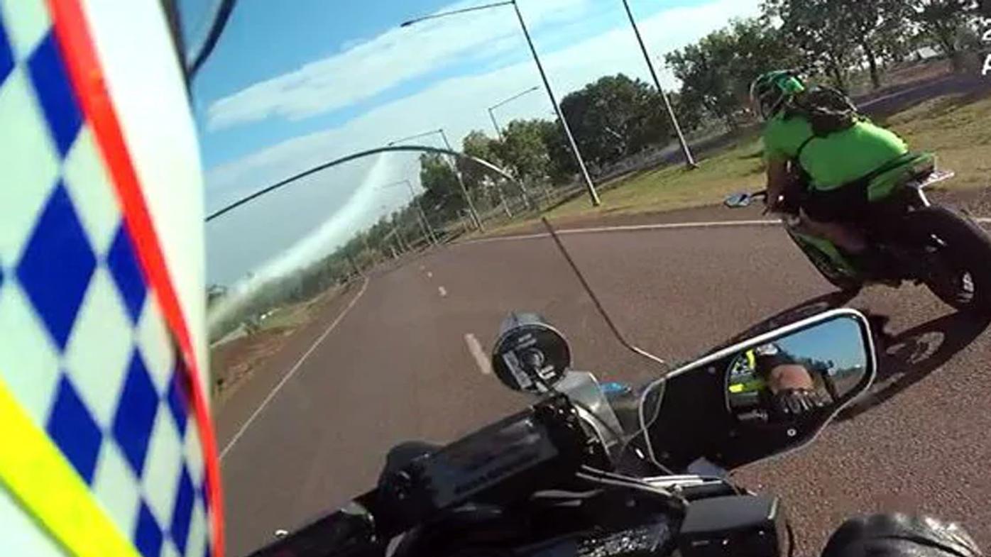 Rider with fake plates clocked at 280km/h on suburban road