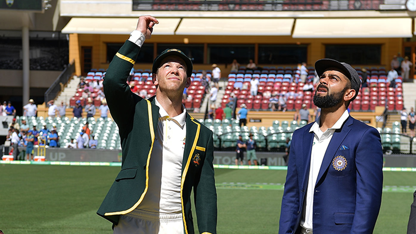 Tim Paine and Virat Kohli in Adelaide.