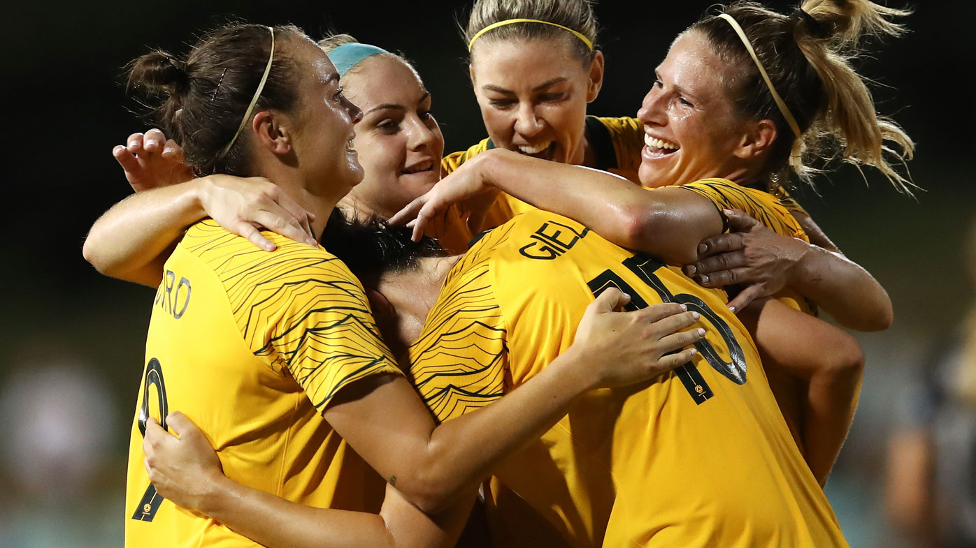 Matildas celebrate victory over New Zealand