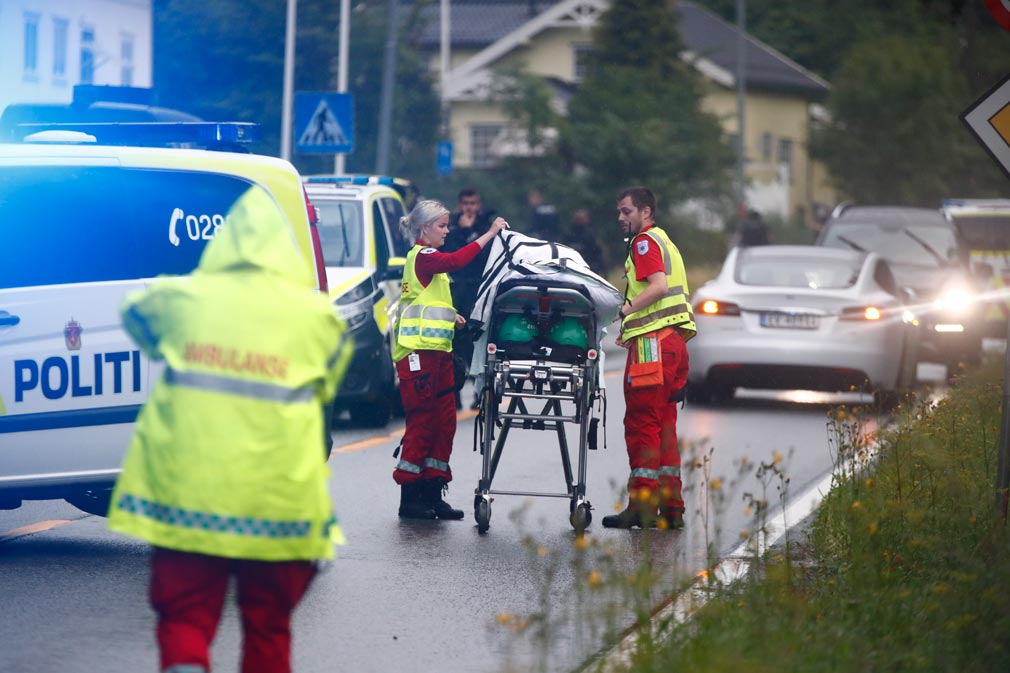One injured after armoured gunman opens fire on Norway mosque