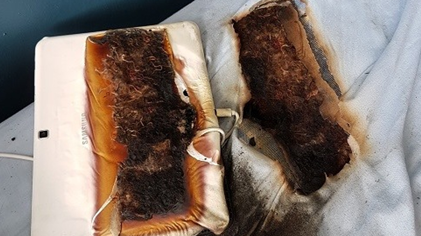 Tablet burns hole though bed of sleeping 11-year-old