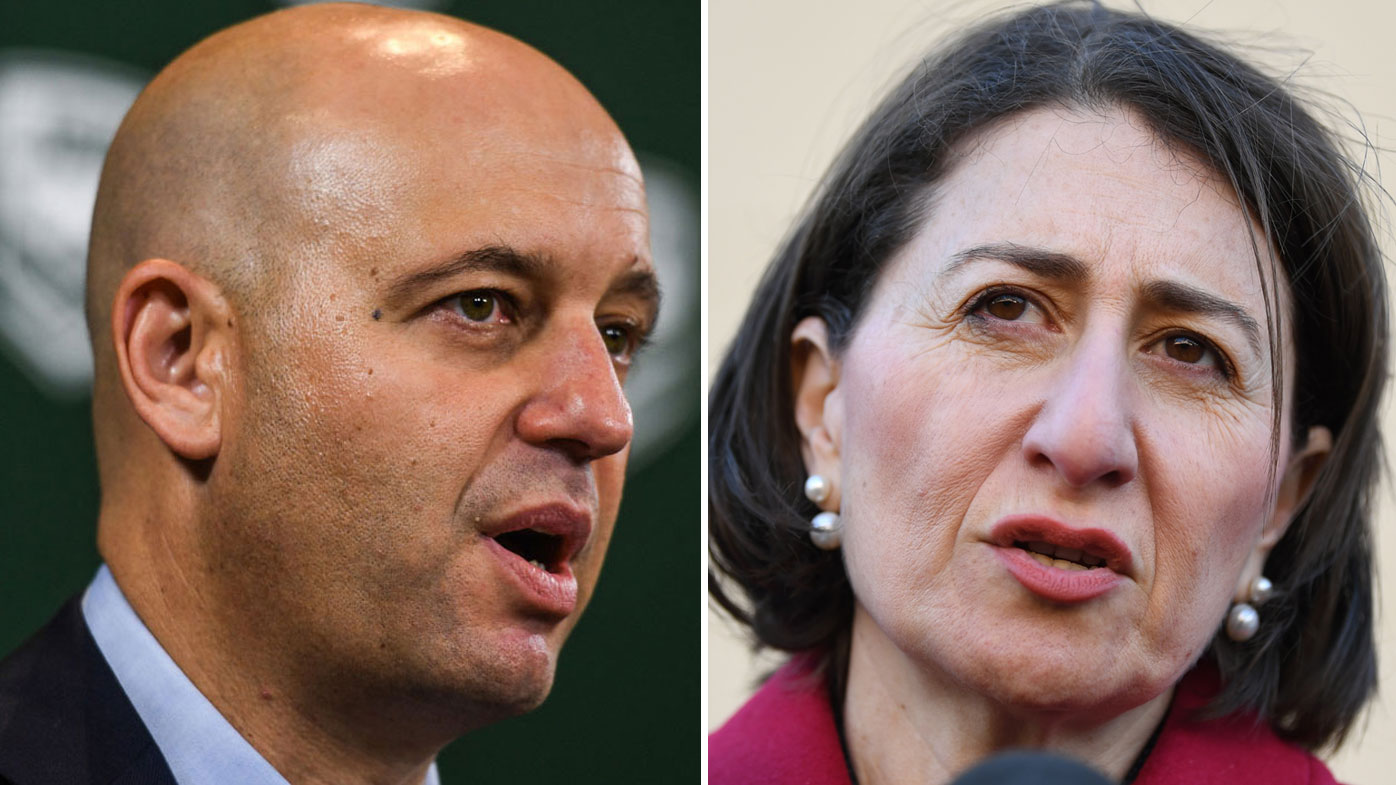Todd Greenberg and Gladys Berejiklian