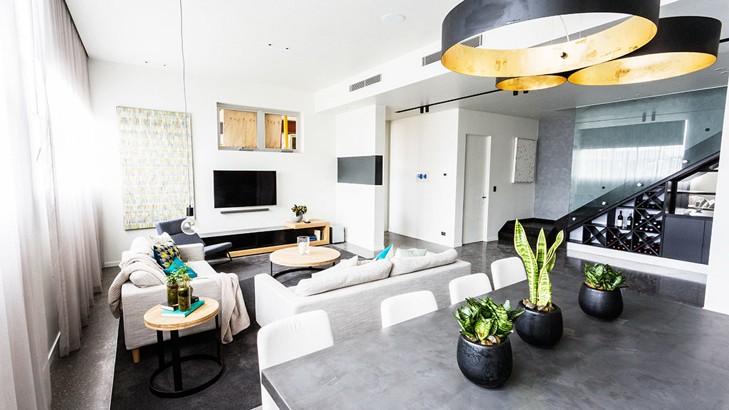 Living and dining week delivered some seriously impressive living areas, like this one from Max and Karstan.
