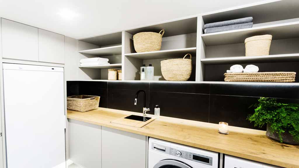 The Block Triple Threat Room Reveals Cellar Laundry