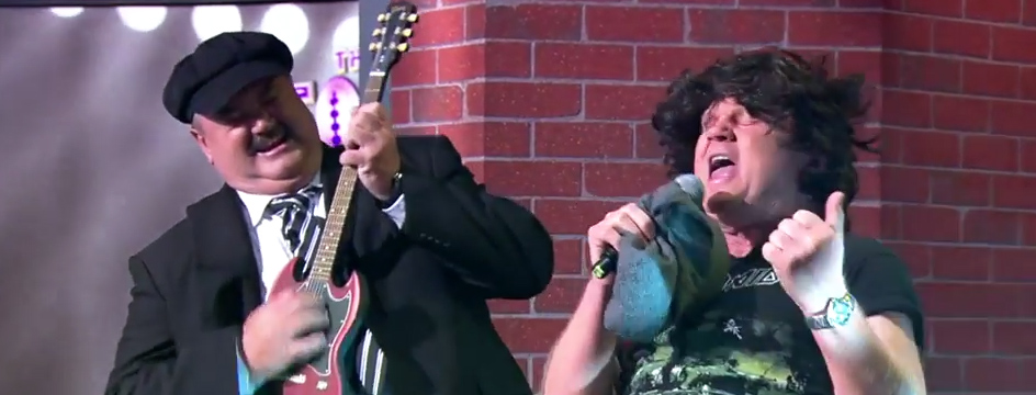 Watch now: The Footy Show takes on AC/DC