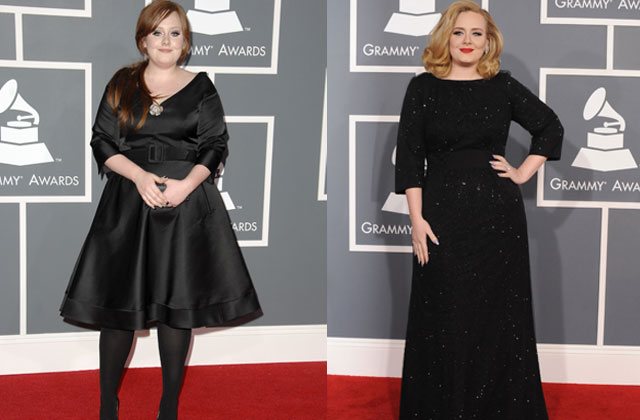 Someone Like New: Adele at the 2009 Grammys, and right, at tonight's ...