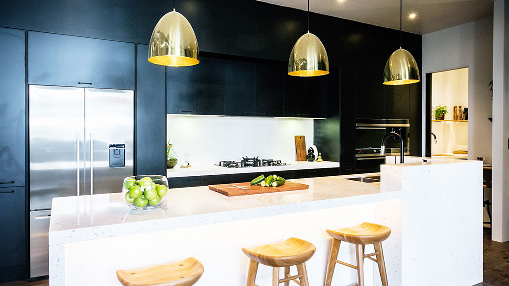 Neale said he never expected to love a black kitchen, but he did.