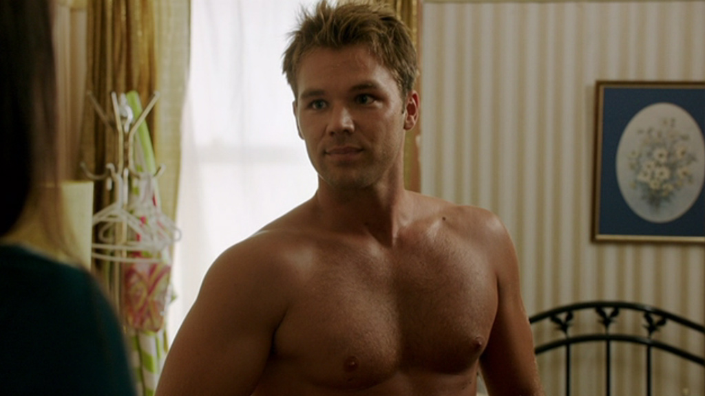 Lincoln Lewis, in a towel… need we say more?