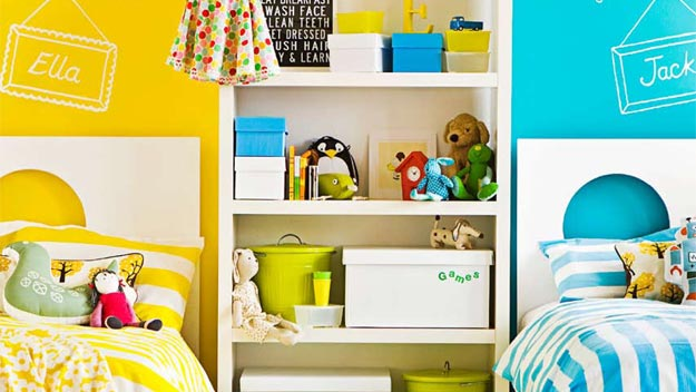 Kids 39 rooms made easy 9homes for Childrens bedroom ideas boy girl sharing