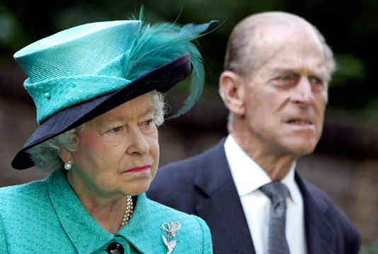 Queen Elizabeth with her husband Prince Philip. (AAP)