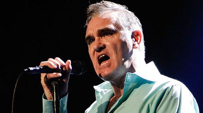 Former The Smiths star Morrisey in concert earlier this year. (Getty)
