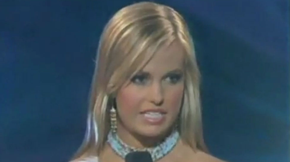 Miss South Carolina at the 2007 Miss Teen USA pageant.