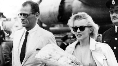 Playwright Arthur Miller and his wife Marilyn Monroe. (AAP)