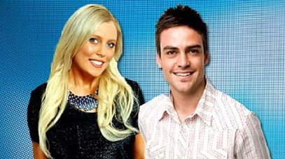 Sydney 2DayFM presenters Mel Greig and Michael Christian.