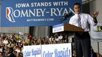 Defeated presidential contender Mitt Romney in Cedar Rapids, Iowa. (AAP)