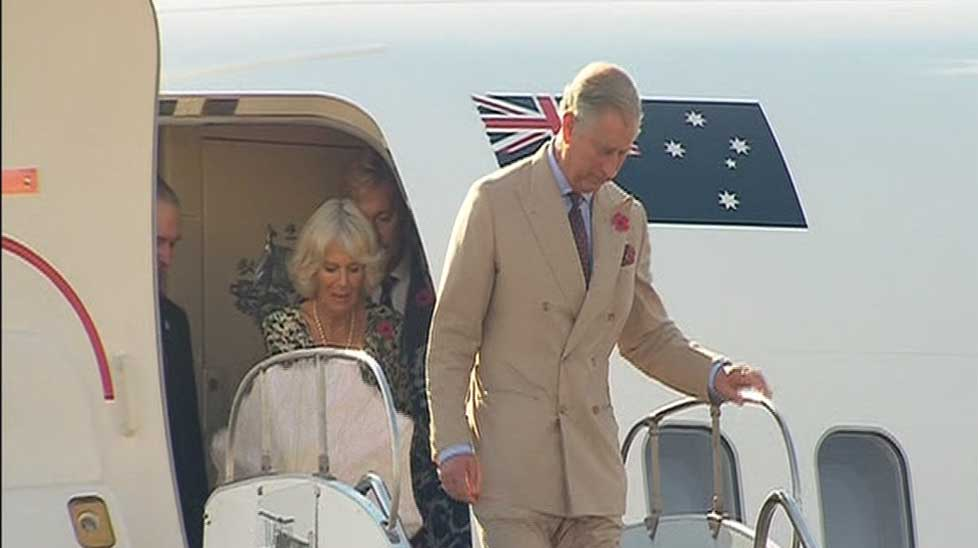 Prince Charles and his wife Camilla arrived in Longreach to temperatures approaching 40 degrees.