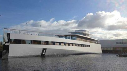 The super yacht was launched by Jobs's widow and three of their children.