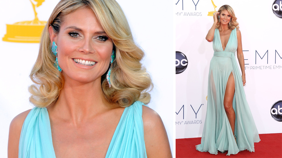 Heidi Klum arrives at the 64th Primetime Emmy Awards. (AAP)