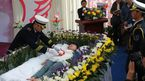 Mourners pay tribute to Zeng Jia, who feigned death for her funeral in Wuhan, China. (AAP)