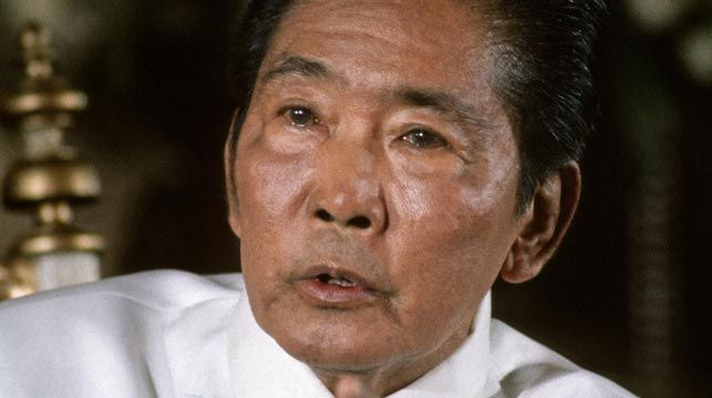 Ferdinand Marcos pictured in 1986. (Getty)