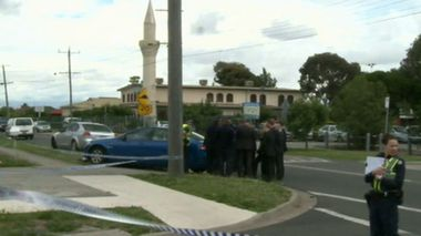 One man has been killed in a stabbing outside a north Melbourne mosque. (Nine News)