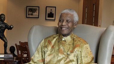 Nelson Mandela, a symbol of peace, justice and enduring struggle, has at his home in South Africa died aged 95 (AAP).