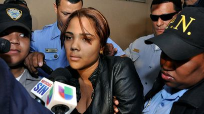 Heredia is arrested in Santiago, Dominican Republic. (AAP)