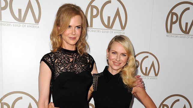 Nicole Kidman and Naomi Watts at the Producers Guild Awards in Beverly Hills last month.