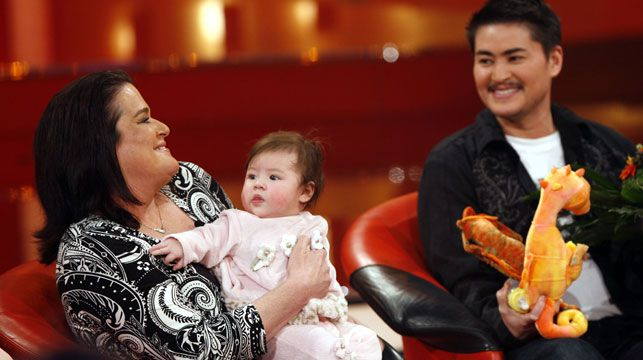 Nancy and Thomas Beatie and their daughter Susan. (AAP)