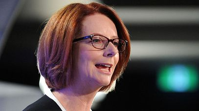 Prime Minister Julia Gillard at the press club. (AAP)