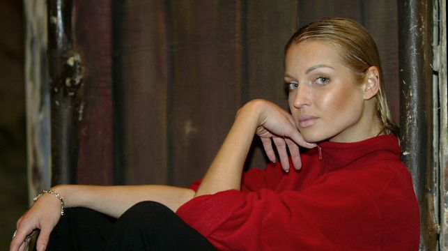 Russian ballerina Anastasia Volochkova after a rehearsal in 2003.