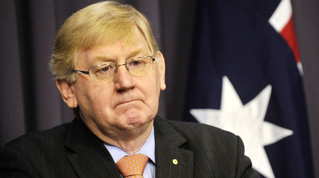 Martin Ferguson during his press conference. (AAP)