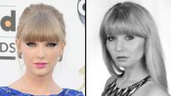 Pop star Taylor Swift and UK lookalike Xenna Kristian.