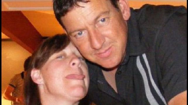 Samantha Lamb and her husband Andy photographed in 2009 before the operation. (Supplied)
