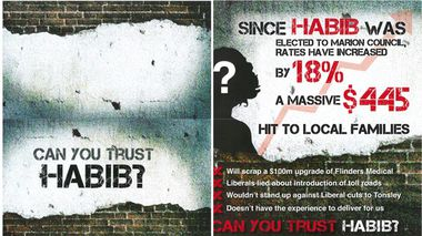 The allegedly racist flyer sent out by the Labor Party.