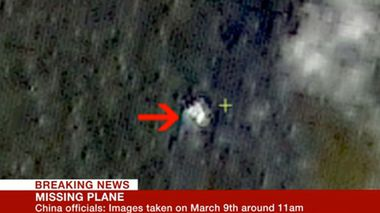 China says its satellite pictures, broadcast by BBC, may show wreckage of missing Malaysia airlines flight. (Supplied)