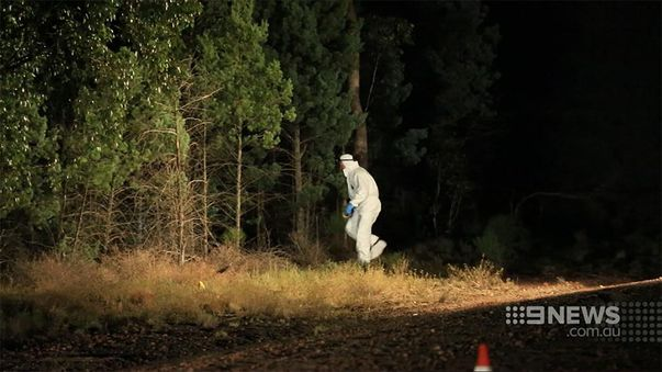 Police searching bushland. (9NEWS)