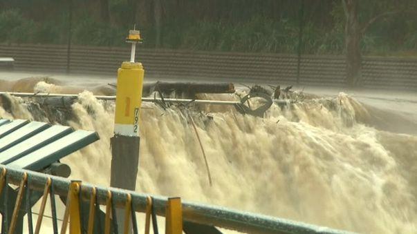 Flash flooding at Parramatta. (9NEWS)