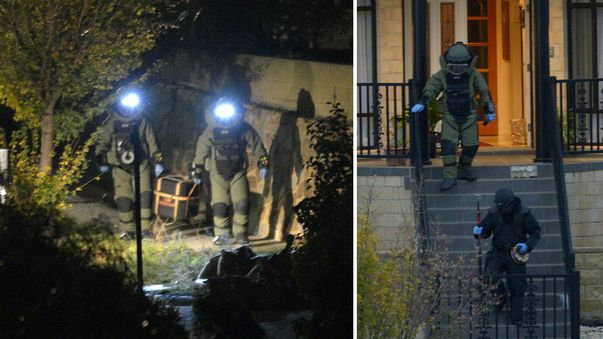 The detonations were conducted by specialist officers from the Victoria Police Bomb Response Unit. (AAP)