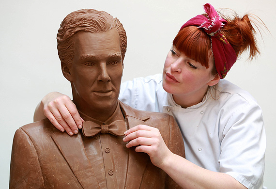 Benedict Cumberbatch chocolate sculpture