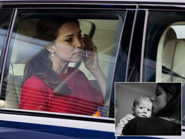 Duchess Kate leaves the event in Norfolk; Leigh Smith and her daughter (inset).