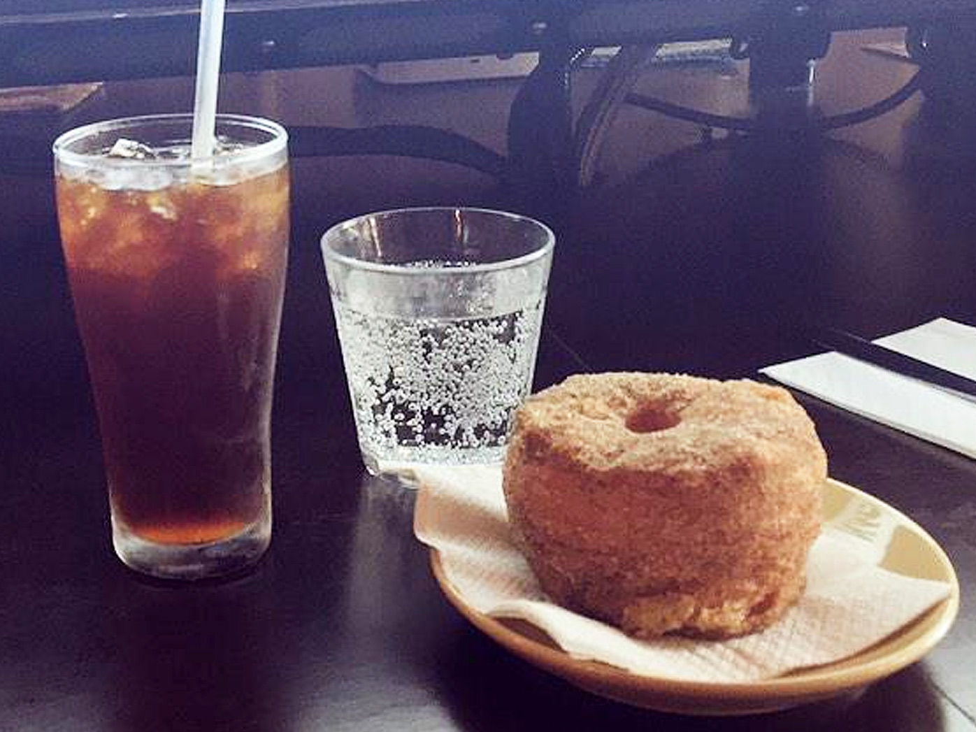 Brewtown Newtown cold drip and doughnut