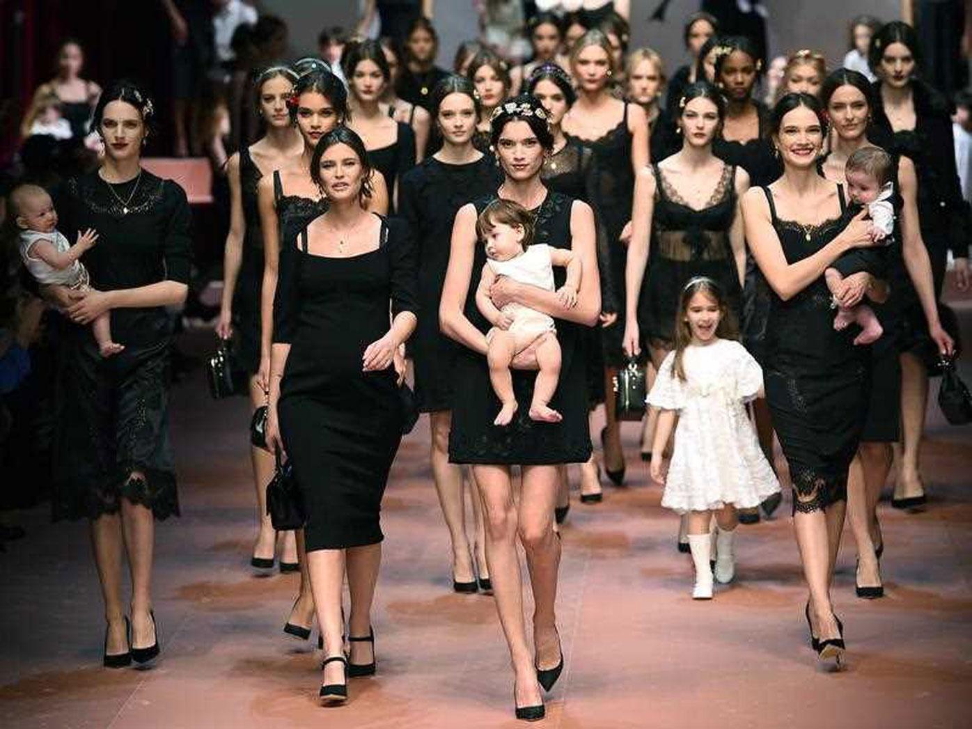 Dolce & Gabbana's 'Viva la Mamma' show
