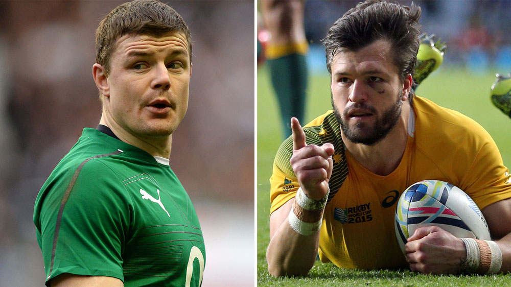Brian O'Driscoll (L) and Adam Ashley-Cooper. (AAP-file)