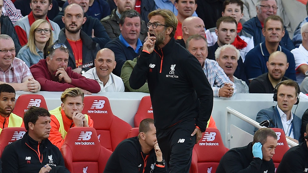 Liverpool manager Juergen Klopp has implored fans to stop singing his name during matches to help his side stay focused and avoid complacency.(Getty)